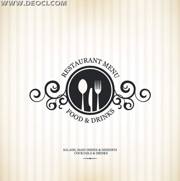 Simple vector the Western restaurant menu recipes cover background