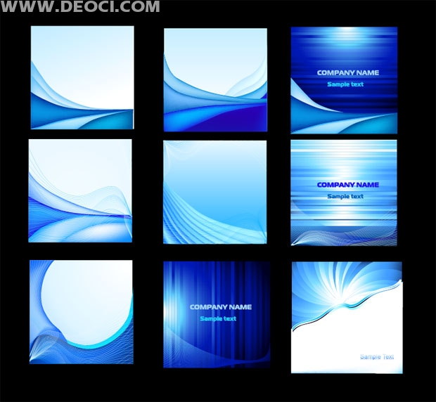 Classic blue background pattern cover design template free download