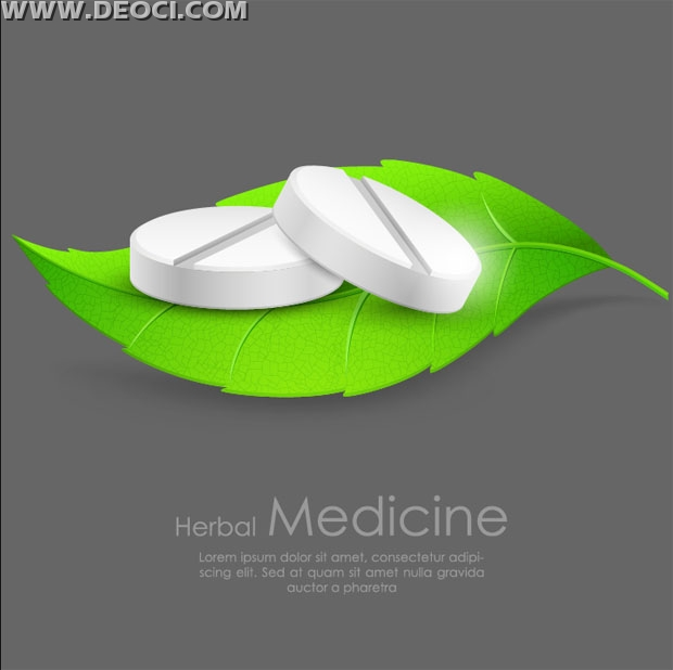 Free green pills creative advertising poster design templates to