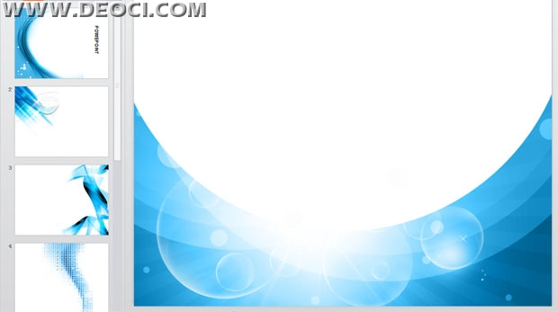 Business blue background design technology PPT template download