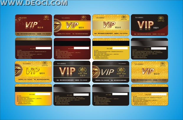 8 VIP membership card magnetic stripe card design templates CDR - membership cards templates