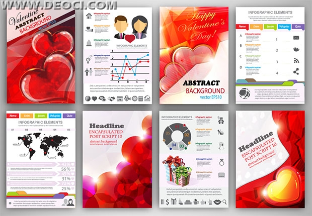 8 exquisite Valentine\u0027s one-page ad design templates - DEOCI
