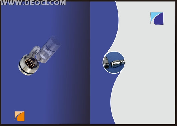Blue Products album cover design template CDR file download - DEOCI