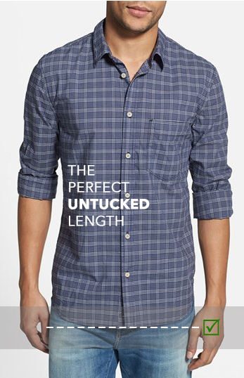 Untucked Vs Tucked In \u2014 A Guide To Dress Shirt Length \u2014 UNFUSED
