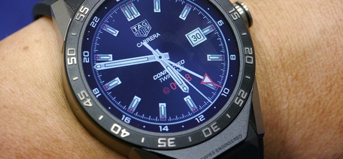 Tag Heuer Connected showing the GMT screen. Users can ...