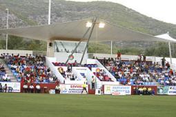El Eivissa jugará cuatro de los próximos seis partidos de Liga ante su afición en el estadio de Can Misses.  Vicent Marí