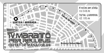 Circuito Marato per Relleus Ciutat de Manacor