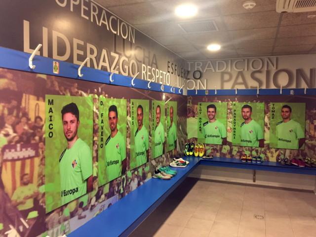 Imagen del cambio de imagen del vestuario del Palma Futsal