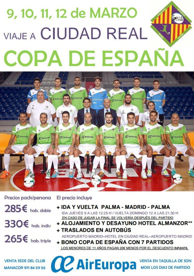Cartel del desplazamiento a la Copa de España