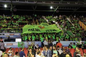 La afición del Palma Futsal en la final de la Copa del Rey de Sevilla el año pasado