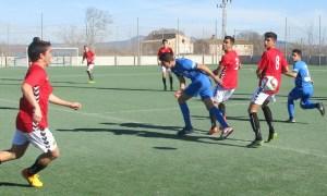 Lance del encuentro entre el Cd.Ferriolense y al Gimnastic de Tarragona