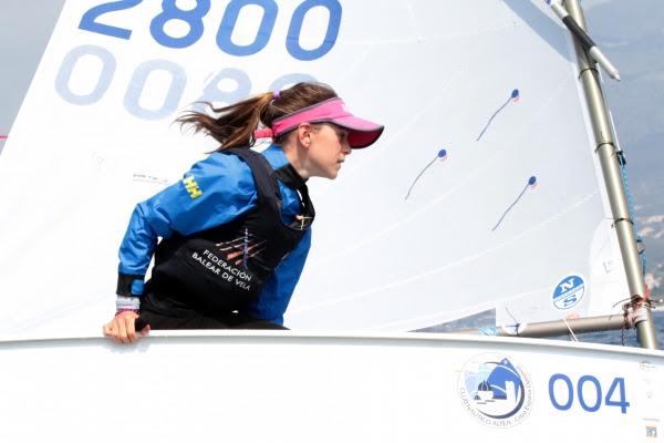 María Perelló durante la competición. Foto Club Náutico de Altea