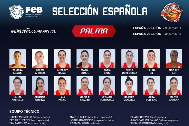Preselección de 16 jugadoras para la primera concentración en Palma