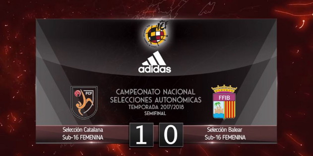 Selección Catalana 1 - 0 Balear Sub 16 Femenino