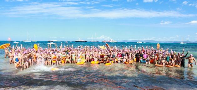 Volta a Formentera nedant contra la Fibrosis Quística