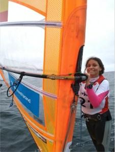 Andrea Torres en la competición de Penmarch