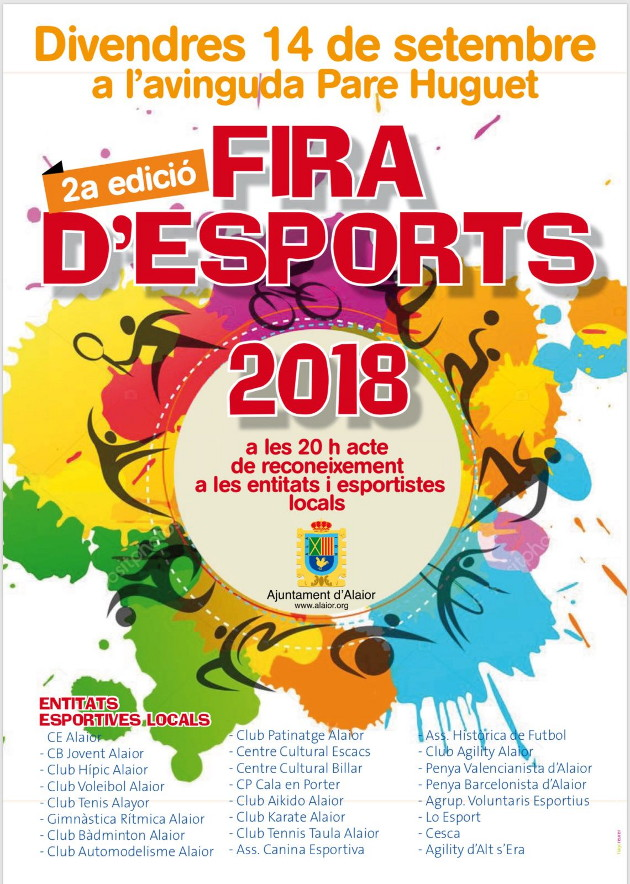 Cartell Fira Esports Alaior 2018