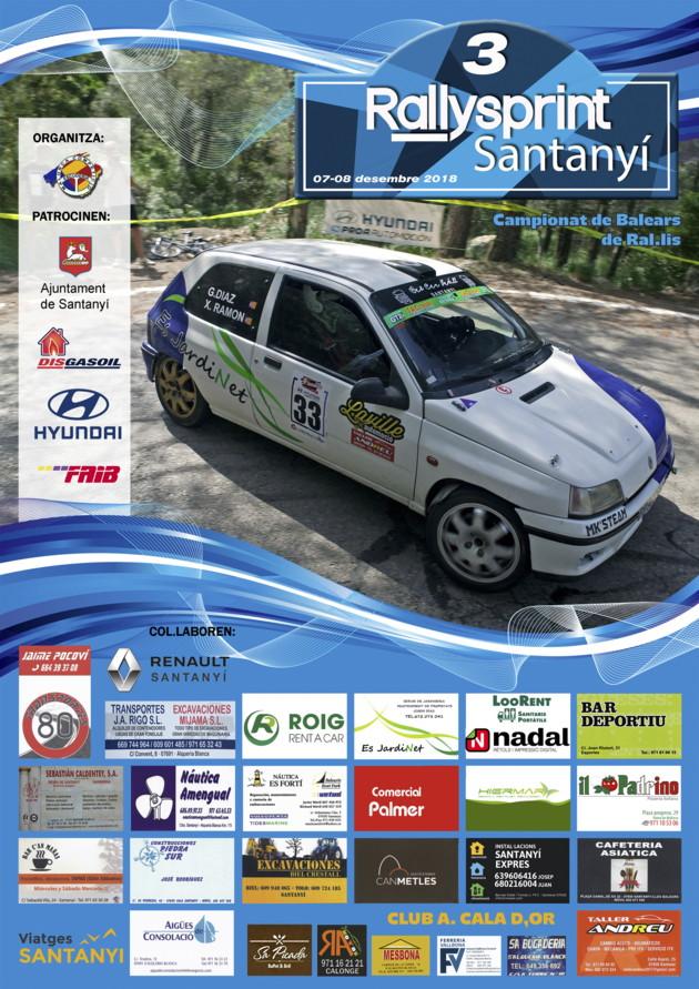 Cartel Rallysprint Santany 2018 A4