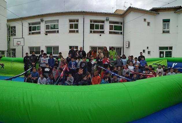 Visita Barron-Sarmiento-Mati Rosa-Lolo-Joaki-futbolin-Alexandre Rossello