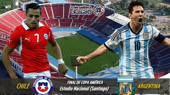 Horario Final Copa América Chile vs Argentina Hoy 4 Julio en España