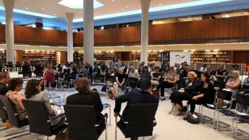 Diskussion im Lesehof des Auswärtigen Amts (Foto: Nunnendorf)