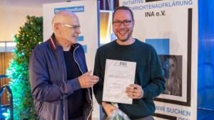 M. Beckedahl mit G. Wallraff (Foto: DLF/Jann Höfer)