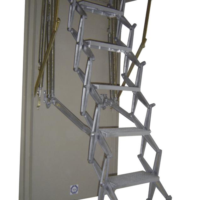 Scherentreppe Stahlluke weiss (Large)