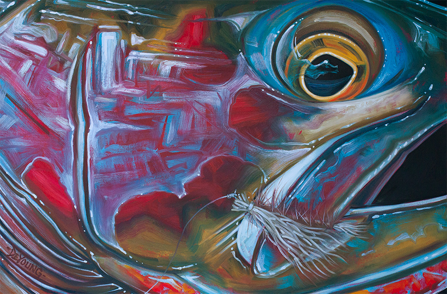4k Fall Painting Wallpapers Abstract Fish Face Series Derek Deyoung