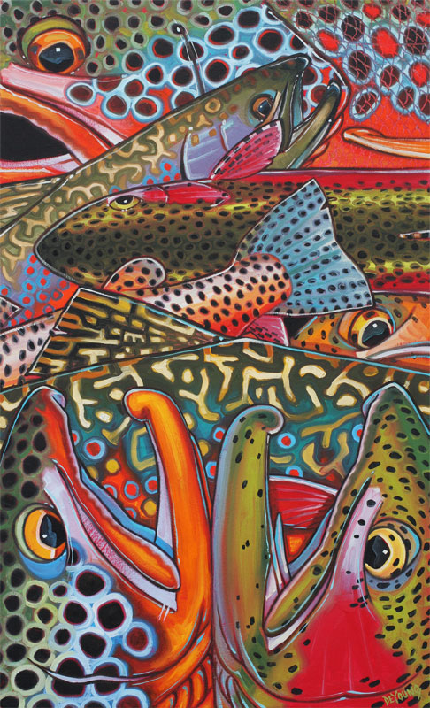 Colorful 3d Abstract Wallpapers Trout Confetti Series Derek Deyoung