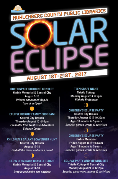 Event Poster design for Solar Eclipse - Art by Kentucky Graphic Designer