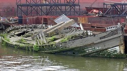 Boats Derelict London Photography Social History And