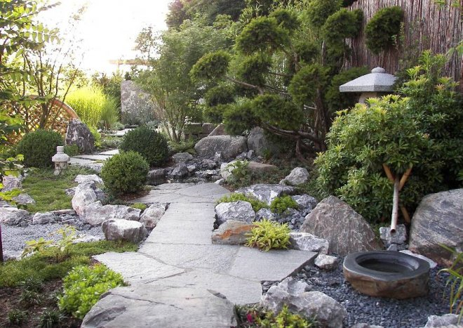 Steingarten anlegen und gestalten Natur und Architektur verbinden - gartengestaltung steingarten