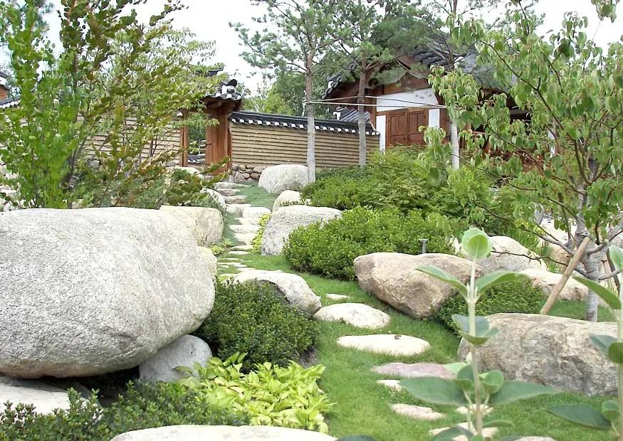 Den Garten mit Steinen gestalten - praktische Tipps - garten gestalten bilder