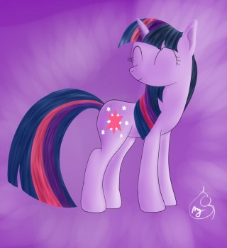Pony Art Challenge: Day 2, Twilight Sparkaru by Silverwindpegasus