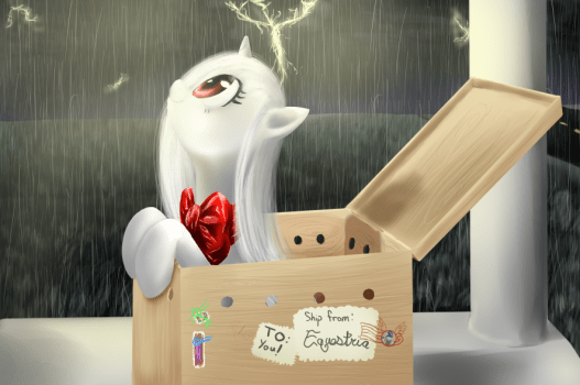 A package arrived for you! by CeleryPony