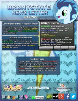 BronyState Newsletter 9/12/2013