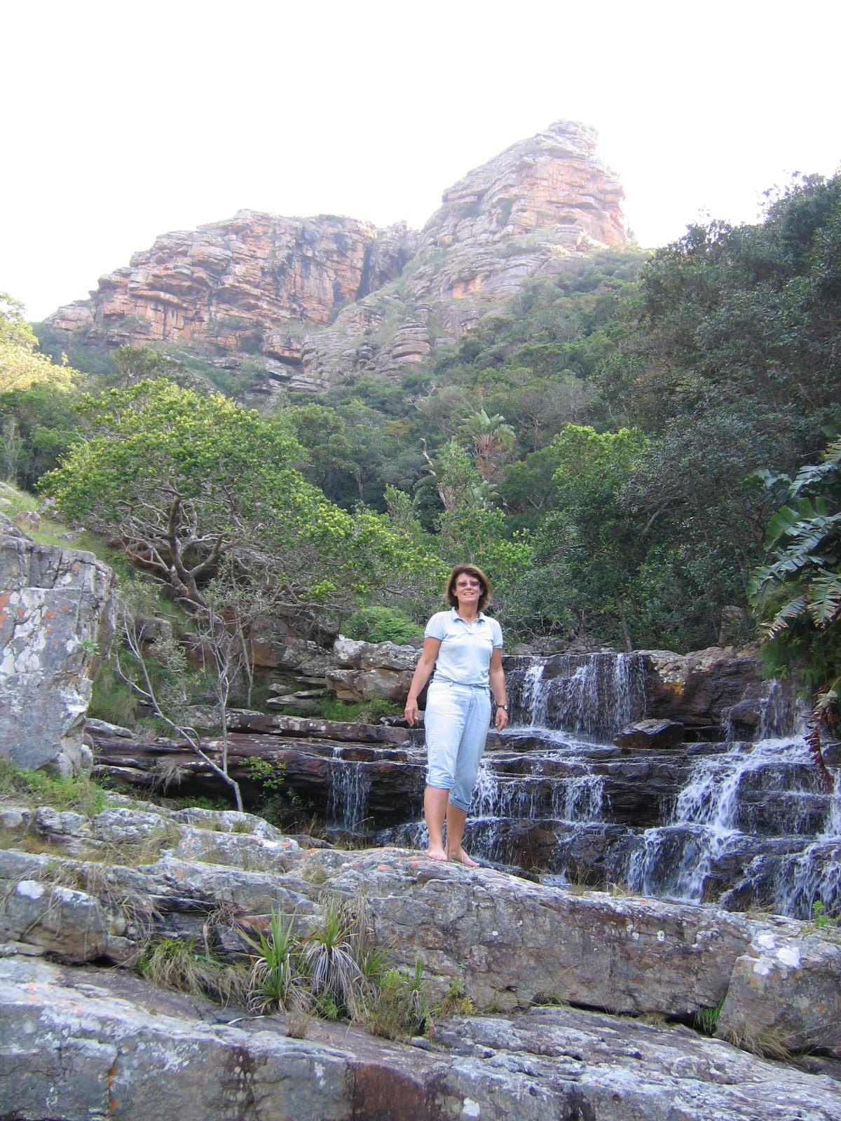 Au coeur de la cascade, trail dans la wild coast
