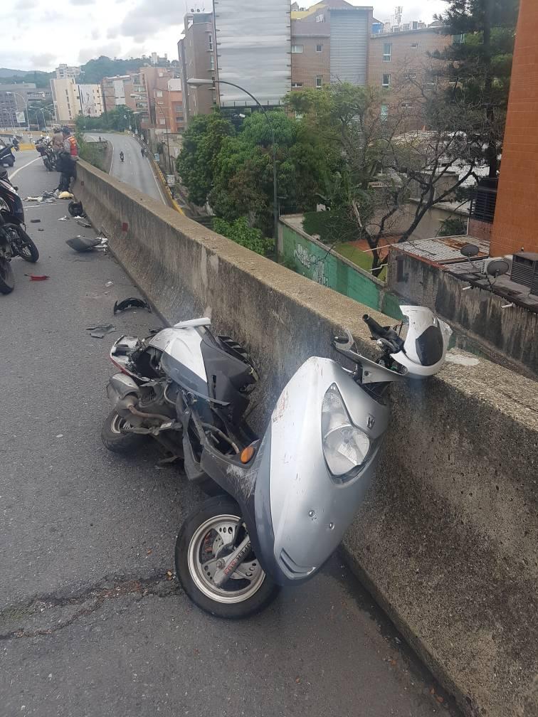 arrollado manifestacion moto