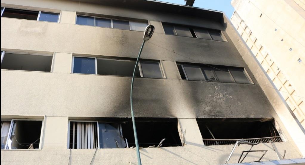 edif inn incendiado
