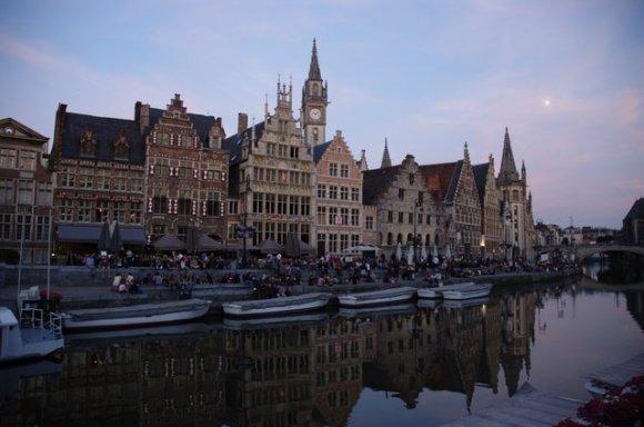 Atardecer en Gante