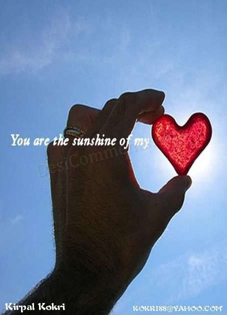 Hindi Sad Wallpapers With Quotes You Are The Sunshine Of My Heart Desicomments Com