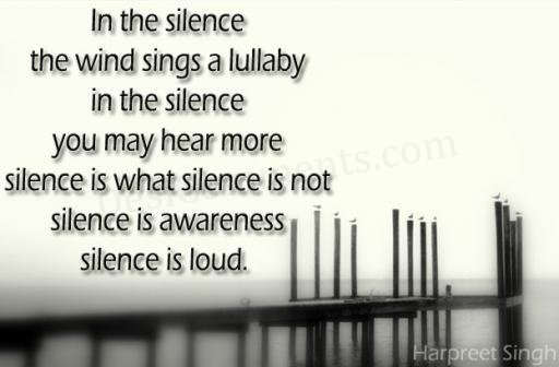 Download Wallpapers Of Good Quotes Silence Is Loud Desicomments Com