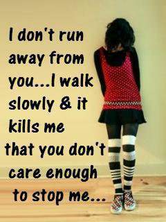 Sad Girl Wallpapers With Quotes In Punjabi You Don T Care Enough To Stop Me Desicomments Com