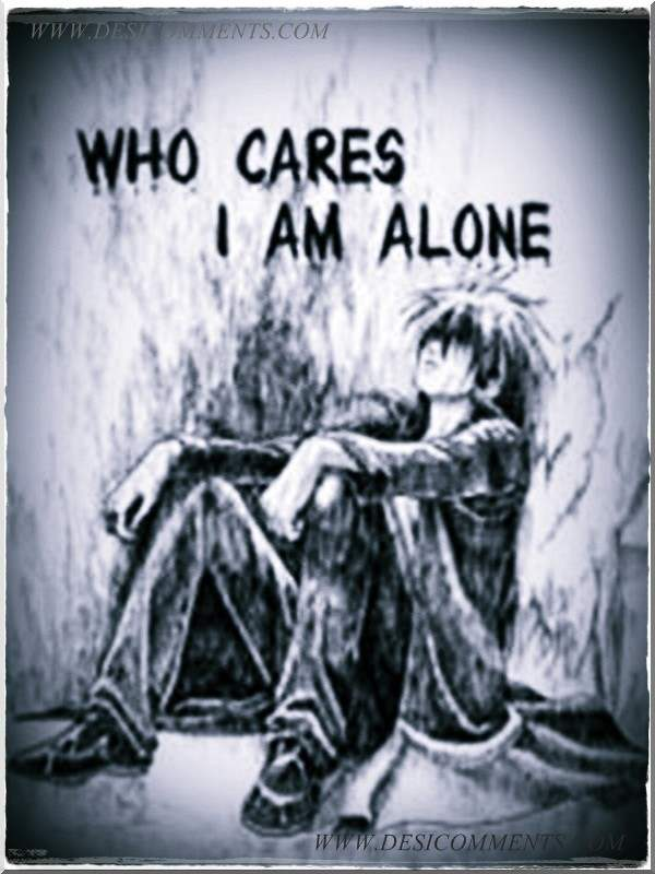 Feel My Love Quotes Wallpaper Who Cares I Am Alone Desicomments Com