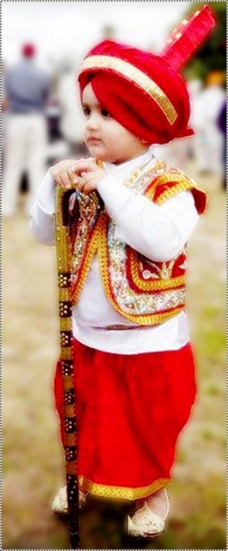 Nice Girl Wallpaper For Fb Little Punjabi Boy In Traditional Punjabi Dress