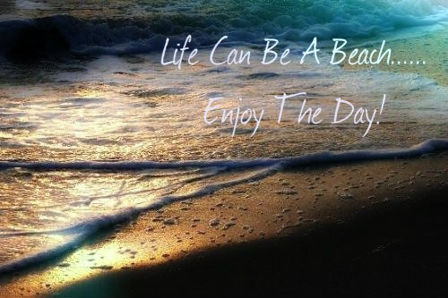 Sad Wallpapers With Quotes Hindi Life Can Be A Beach Enjoy The Day Desicomments Com