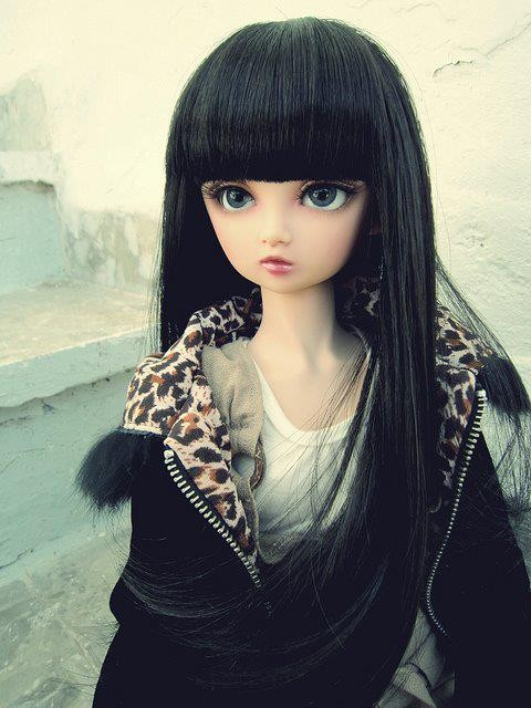 Cute Lovely Wallpapers With Quotes Doll With Black Hair Desicomments Com