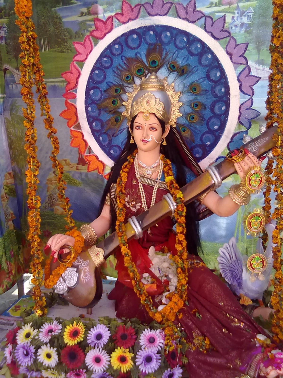 Durga Maa Wallpaper Full Hd Saraswati Puja Desicomments Com