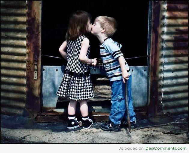 Cute Kid Couples Wallpapers Kid Couple Kissing Desicomments Com