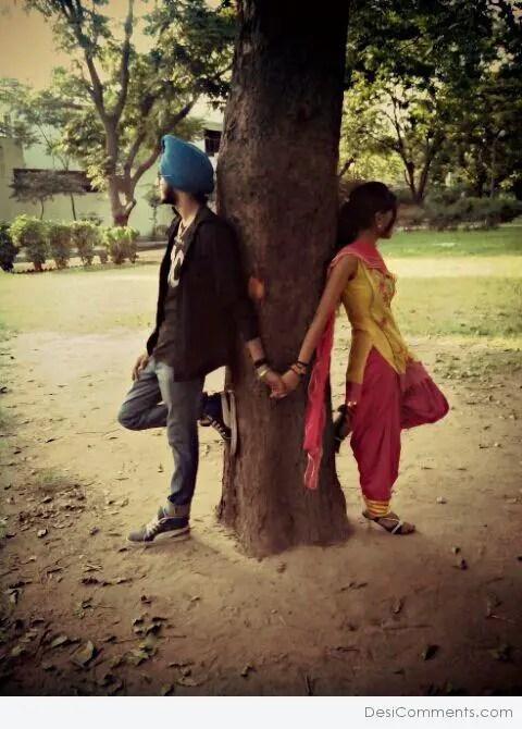 Sad Baby Girl Wallpaper Download Lovely Punjabi Couple Desicomments Com